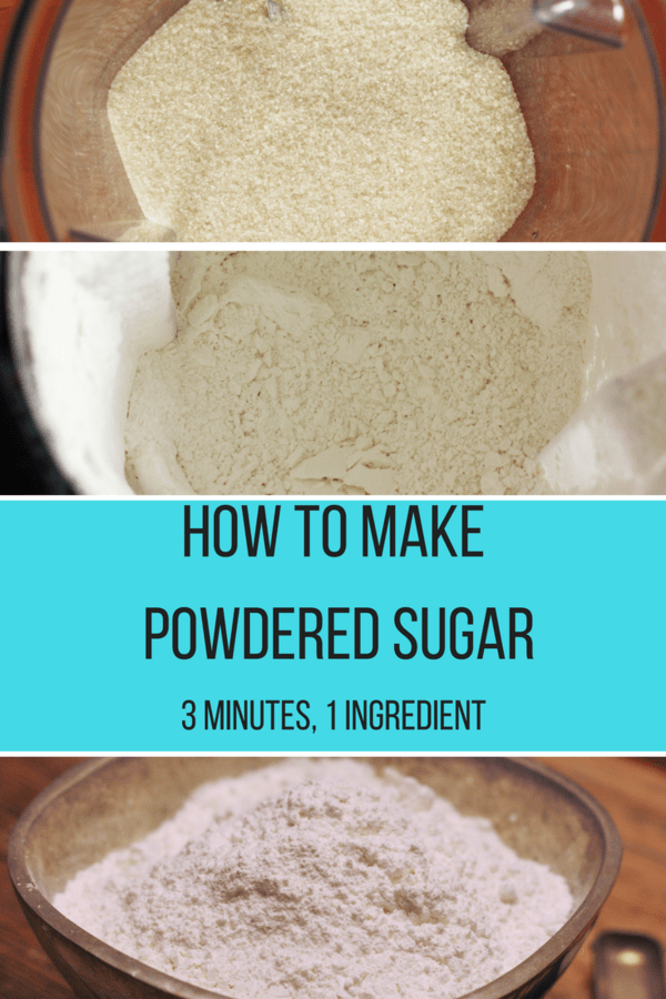 Homemade powdered sugar. Learn how to make powdered sugar in your own kitchen. Just one ingredient and three minutes are all you need!