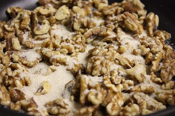 "Sugary nuts.  AKA how to ""candy"" walnuts"