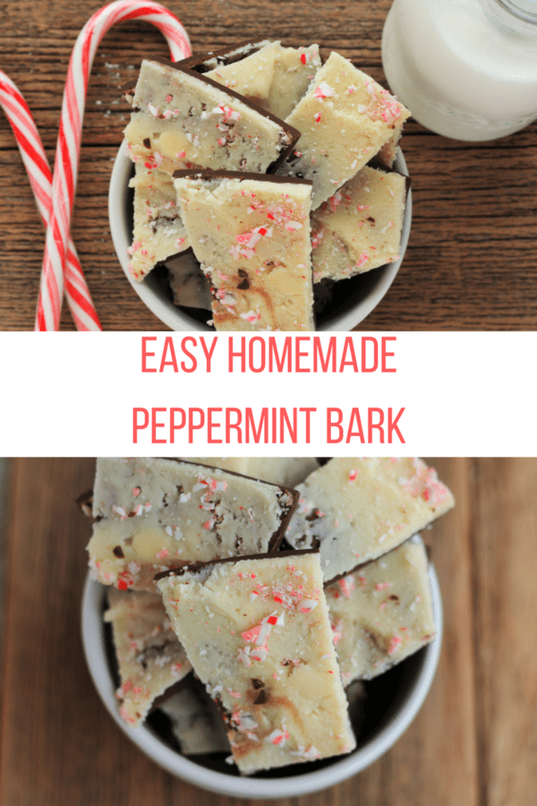 Peppermint Bark is one of the easiest and most delicious holiday treats around. Layers of white and dark chocolate sprinkled with crushed candy canes.