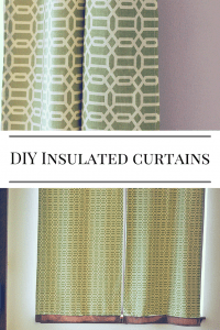 DIY insulated curtains
