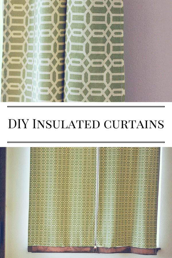DIY Insulated Curtains - learn to sew your own insulated/blackout curtains.