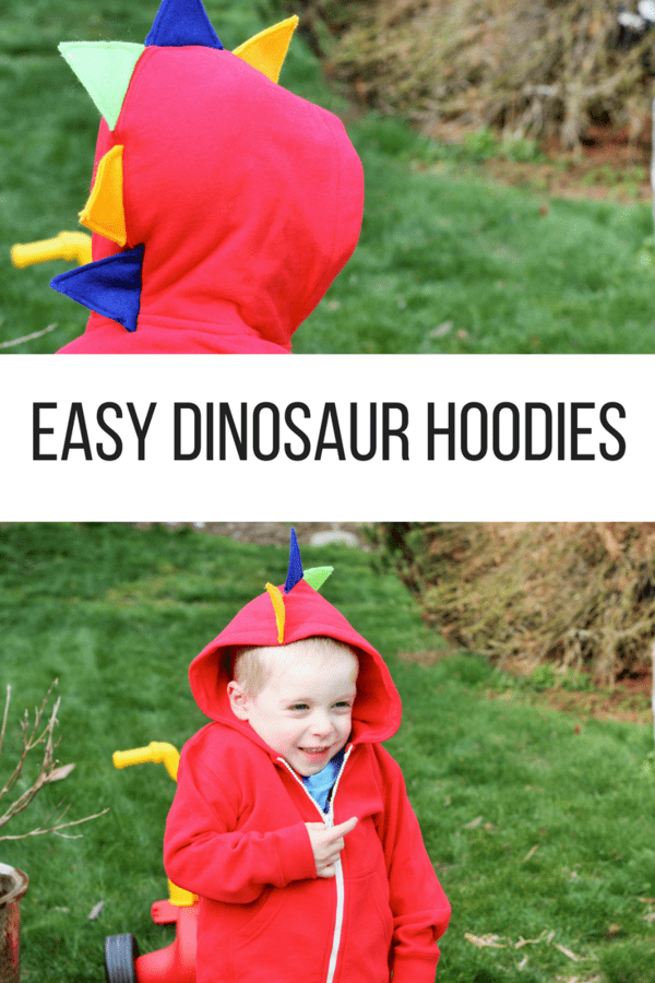 Dinosaur hoodies are an easy DIY project that is perfect for any beginning sewer. Homemade dinosaur hoodies are fun for kids of all ages.