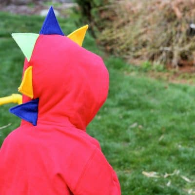 Easy DIY Dinosaur Hoodies