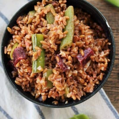 Instant Pot Farro Salad With Baby Beets and Snap Peas
