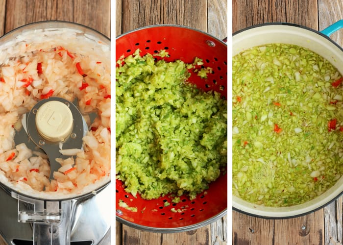Making dill relish in three steps