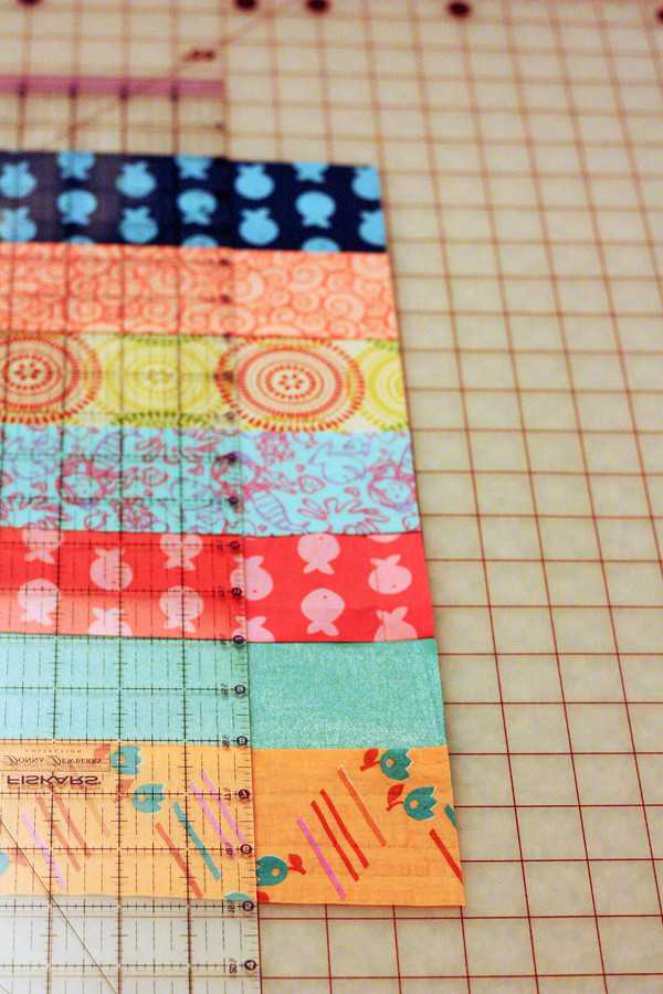 strips of trimmed fabric for beginner quilts