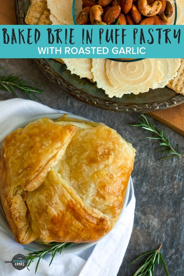 Looking for a delicious and easy savory appetizer? Baked Brie in Puff Pastry With Roasted Garlic is creamy, packed with flavor, and a sure-fire hit at your next party.
