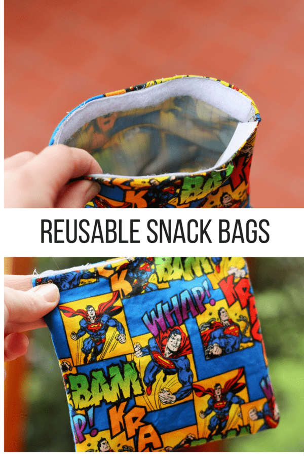 Reusable snack bags are an easy sewing project to help you live a more sustainable life.