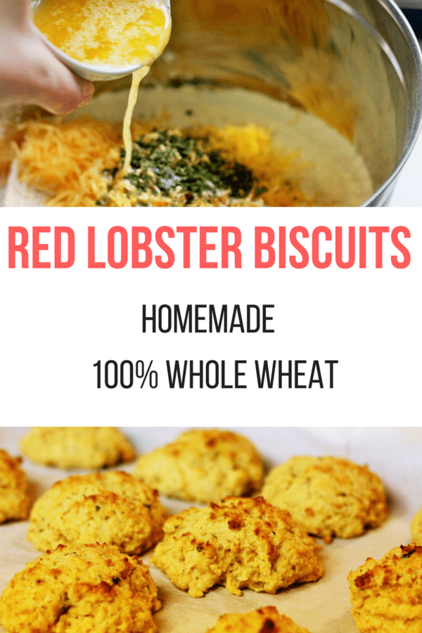 Easy homemade Red Lobster Biscuits. These Red Lobster Cheddar Bay Biscuits are made with real ingredients, including 100% whole wheat flour.