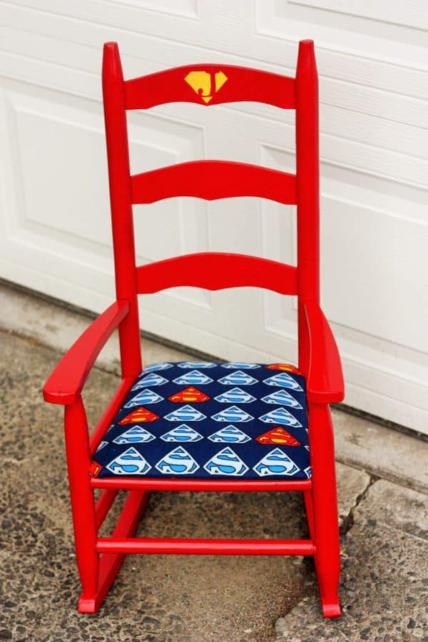 diy superman chair frugal by choice cheap by necessity rh sustainablecooks com superman character profile superman charity