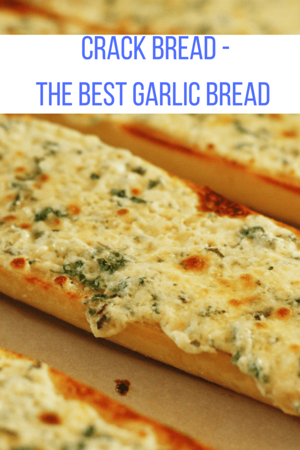 Delicious garlic bread that has so much flavor and ooey gooeyness you'll want to make and eat it daily. Garlic bread, aka crack bread will become a family favorite.