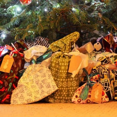 Homemade Cloth Gift Wrap