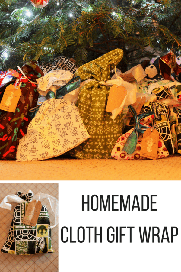 Homemade cloth gift wrap is a fun, eco-friendly alternative to disposable options. This photo tutorial shows you how to make cloth gift wrap in 15 min.