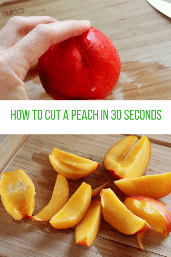 How to Cut a Peach in 30 Seconds
