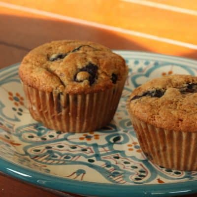 FINALLY…Amazingly Delicious 100% Whole Wheat Blueberry Muffins