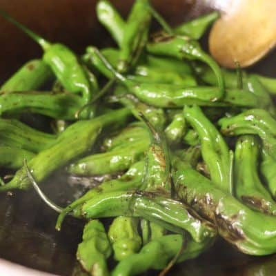 Stir-fried Shishito Peppers – Good Enough to Make a Pregnant Lady Yell at a Waitress