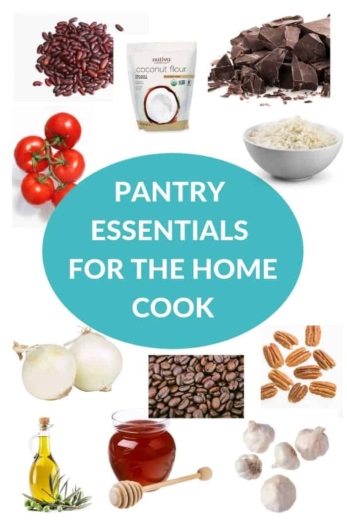 ingredients and other items listed as pantry essentials