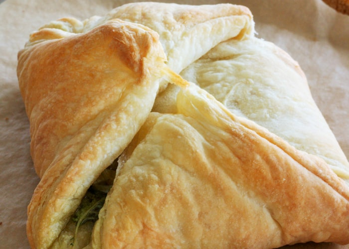 A baked savory puffed pastry recipe