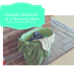 The cleaning schedule of a working mom. Clean house smean house.
