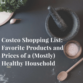 mortar and spices with costco shopping list text overlay