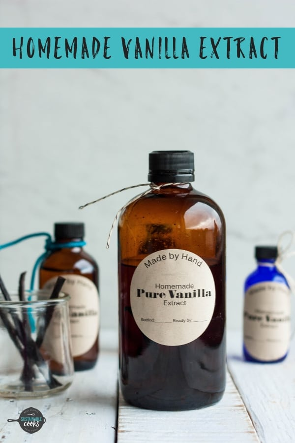 Making your own Homemade Vanilla Extract is so simple and makes the best handmade gift. This recipe uses vodka or bourbon and can also be made in the Instant Pot.