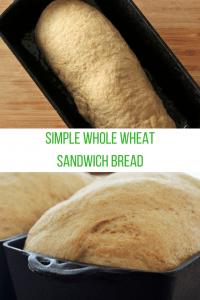 simple whole wheat sandwich bread