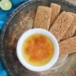 Key Lime Creme Brulee With Graham Cracker Spoons