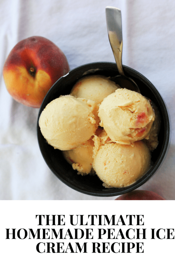 The freshest tasting homemade peach ice cream recipe you'll ever make. Peach ice cream is the tastiest way to enjoy summer's bounty.
