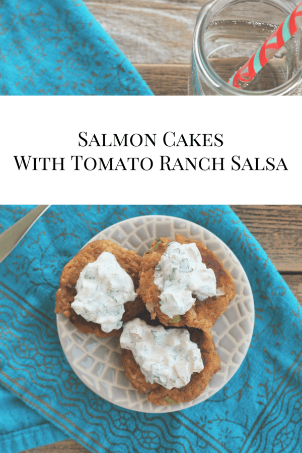 Delicious simple salmon cakes perfect for a weeknight meal. Full of flavor and protein, these salmon cakes will please even the picky members of your family.