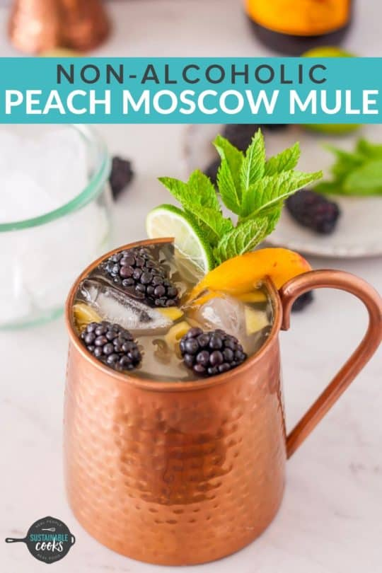 photograph relating to Moscow Mule Recipe Printable titled Peach Moscow Mule Moscow Mule Mocktail Sustainable Chefs