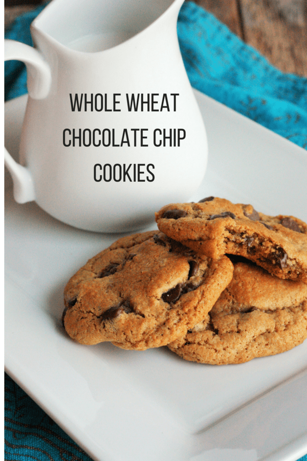 These are the softest whole wheat chocolate chip cookies you'll taste. Described as