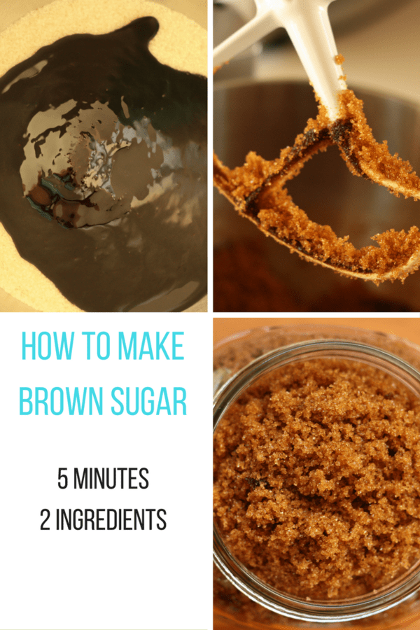 How to make brown sugar - five minutes, two ingredients