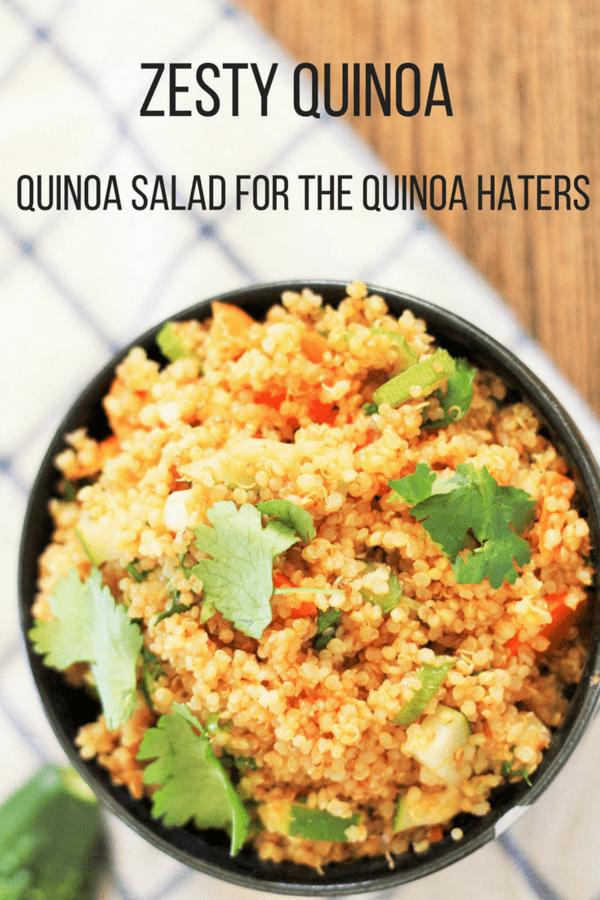 Zesty Quinoa - Quinoa Salad For The Quinoa Haters