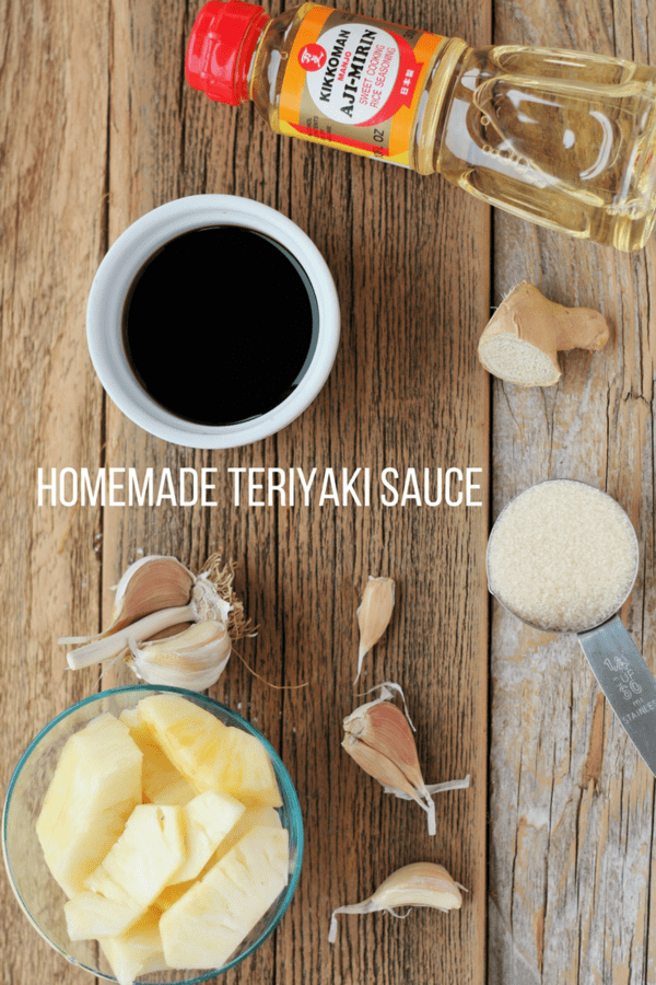 Homemade Teriyaki Sauce adapted from a treasured family recipe. Aunt Emiko made the most delicious teriyaki ever; I cut the sugar and kept the flavor.