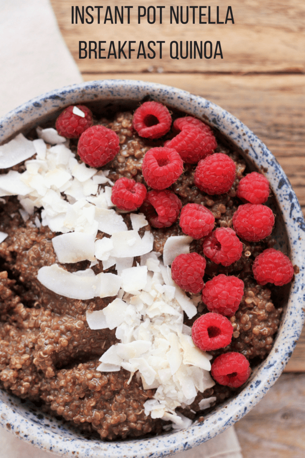 Breakfast quinoa is about to improve your morning routine for the better. Nutella Breakfast Quinoa in the Instant Pot is a delicious way to start your day.
