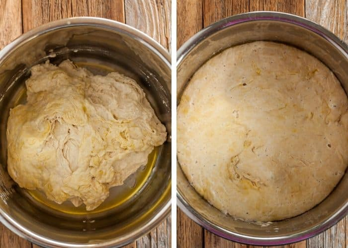 Bread dough in an instant pot