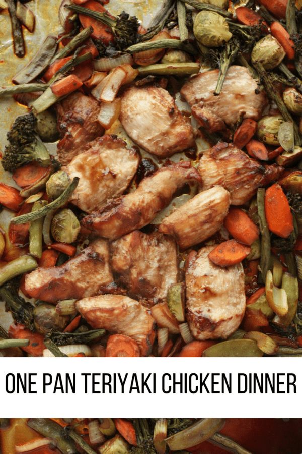 One Pan Teriyaki Chicken Dinner is a dinnertime miracle. Healthy protein and packed full of delicious veggies in just one sheet pan!