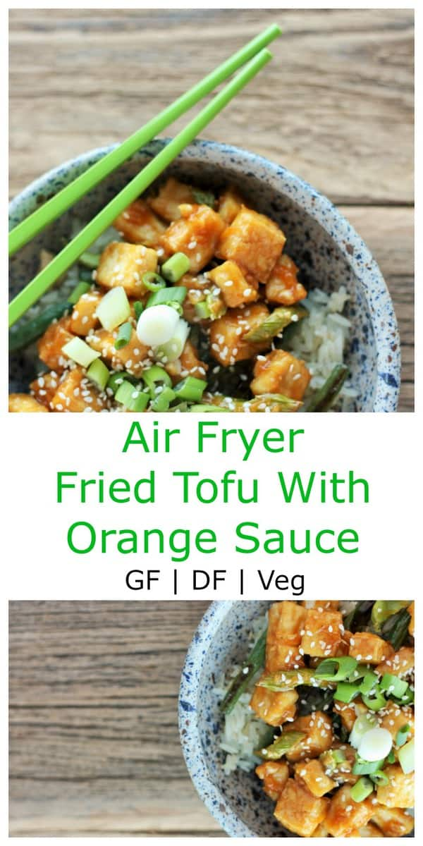 Air Fryer Fried Tofu With Orange Sauce. Crispy fried tofu is extra delicious with a homemade orange sauce loaded with flavor.