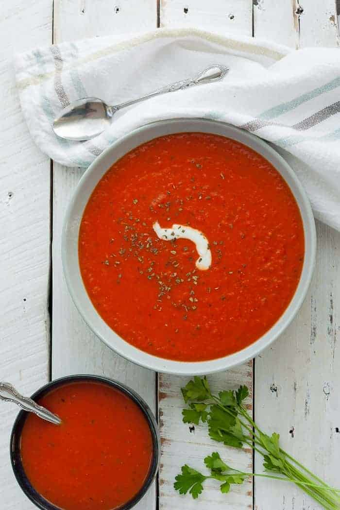 Whole30 Tomato Soup (Gluten-Free Whole30, Paleo, Vegan)