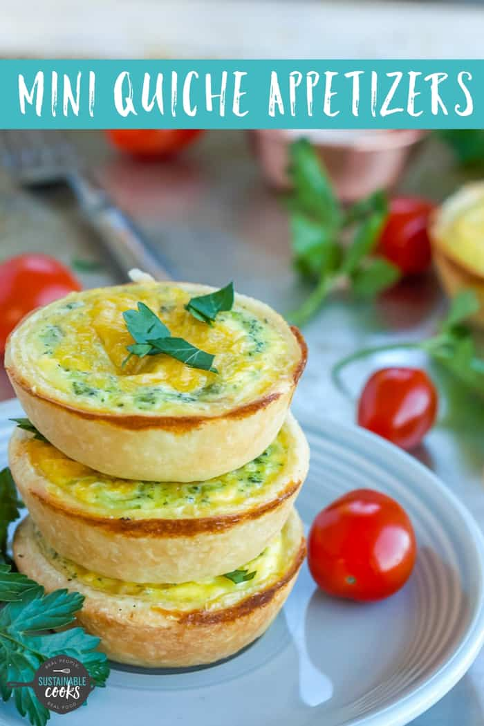 Perfect for make-ahead breakfasts or hors d'oeuvres, Mini Quiche Appetizers are always a hit! Easy to make and freeze, bake these delicious minimuffin tin quiche and store them in your freezer for months. #miniquicheappetizers #freezerappetizers