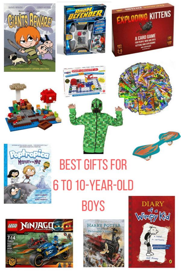 Gift guide for 6-10-year-old boys to help you find the perfect present for the mini male in your life. A mix of price ranges will fit any budget.