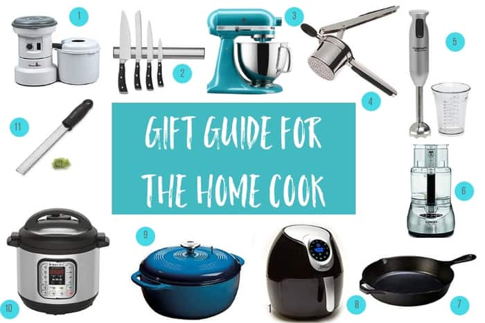 multiple cooking items for a gift guide for the home cook