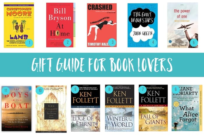 the ultimate gift guide for book lovers with multiple book covers