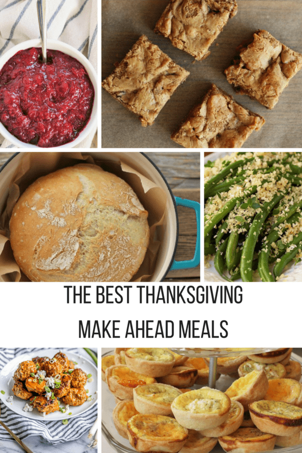 The 10 Best Thanksgiving Make-Ahead Meals give you a delicious and stress-free holiday. Appetizers, side dishes, and desserts ideas are featured in this roundup.