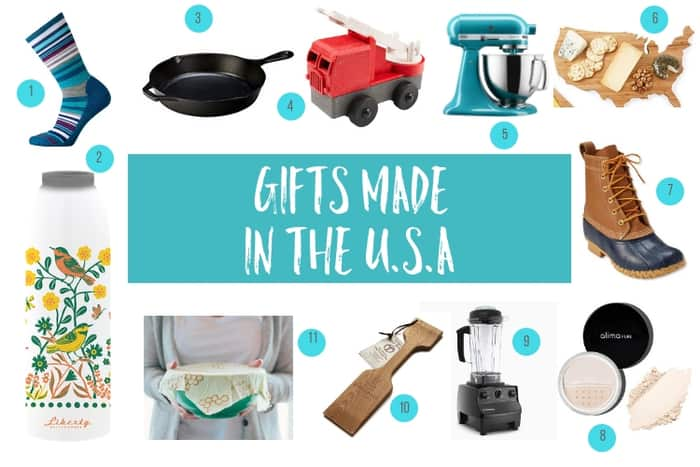 images of gifts made in the USA for a gift guide
