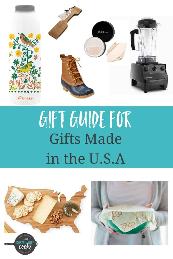 Gift guide for gifts made in the U.S.A. From water bottles to kitchen gadgets, this array of locally made gifts is designed to fit any budget.