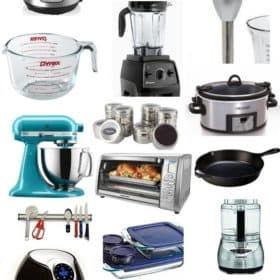 an instant pot, mixer, cast iron skillet, and other kitchen items for busy cooks