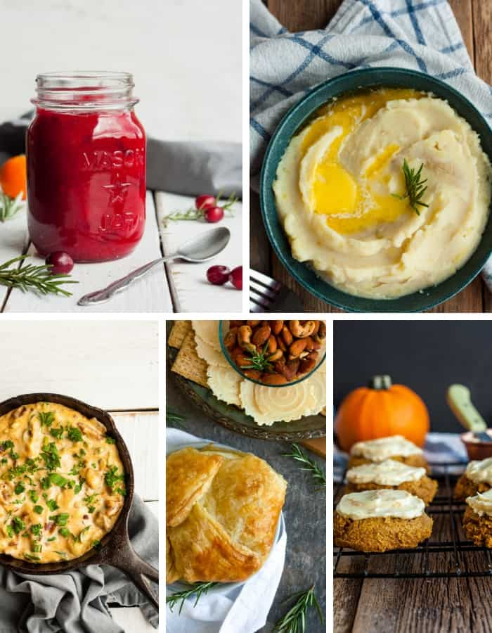 5 make ahead thanksgiving dishes in a grid