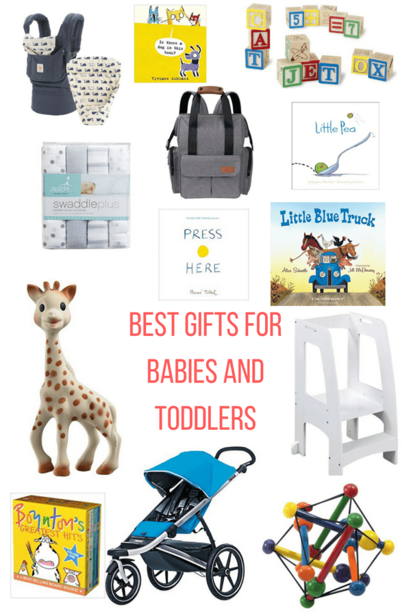 A list of the best gifts for babies and toddlers to help you find perfect presents for a little ankle biter in your life. A range of prices for all budgets.