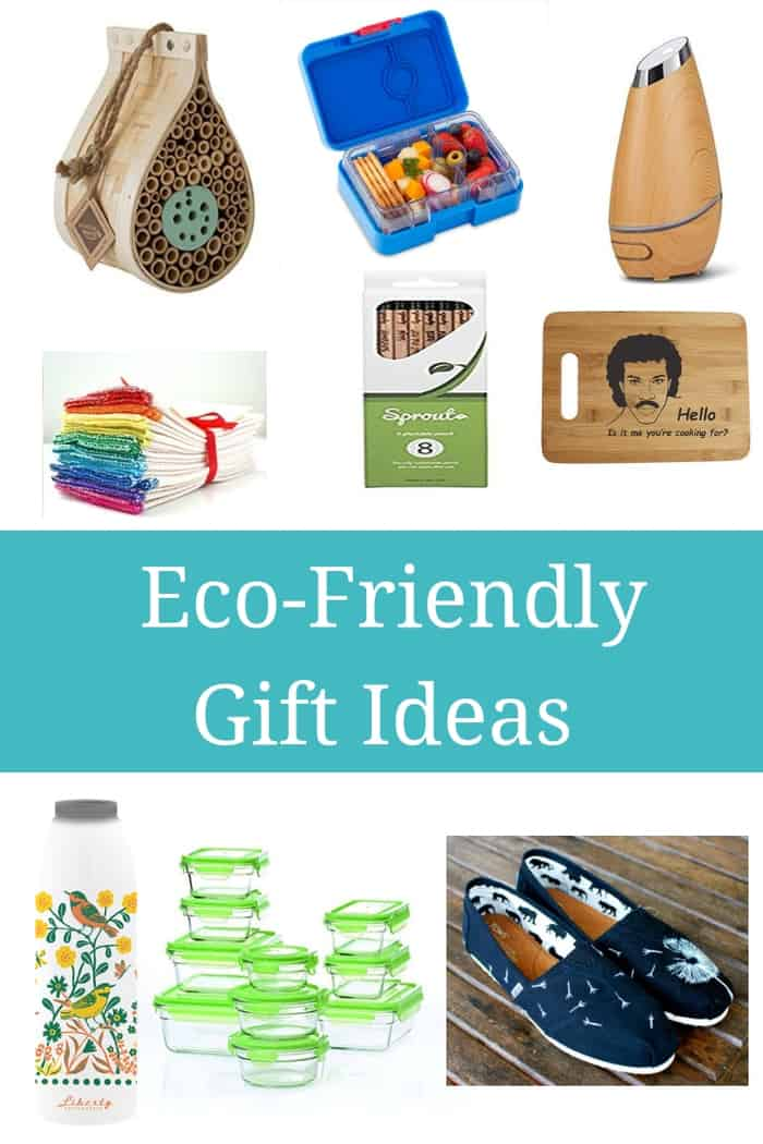 An Eco-Friendly Gift Guide to help you find the perfect present for the crunchy person in your life. These 12 amazing gift ideas will make them happy! #sustainablecooks #ecofriendly #holidaygifts #christmasgifts #hanukkahgifts